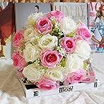 Vosarea 6pcs Artificial Hydrangea Flowering Plant Favors Silk Hydrangea False Wedding Bouquet Home Background Flower