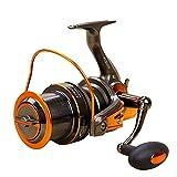 釣りリール 釣りリール4.6:1つのギア比左右交換可能な折りたたみハンドルメタルロッカー釣りリール 卓越したデザイン (色 : グレー, Size : AT9000)