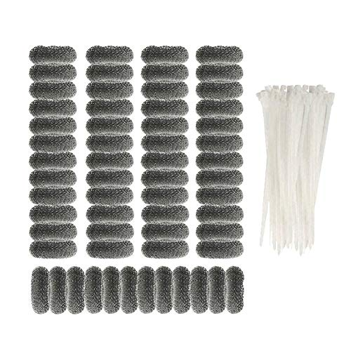 LITHE Lint Traps Washing Machine, 60 Pcs with Zip Ties, 304 Stainless Steel Snare Washer Hose Dog Hair Catcher, Never Rust