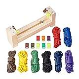 PH PandaHall 編み機 手織り機 手作りメーカー 編み台 手芸編みキット 編みロープ 安全ロープ バックル付き 毛糸 編み物 ハンドホルダー 多機能ブレスレット DIY道具 クラフト用品素材便利なグッズ