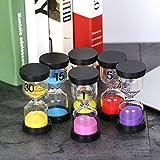 Rakuby 6色砂時計 砂時計 砂時計 タイマー(1分/ 3分/ 5分/ 10分/ 15分/ 30分)歯磨き茶醸造用 バーベキュー