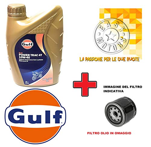 Desconocido Kit DE Mantenimiento DE Motor Cinco litros DE Aceite Gulf 10W40 4T + Filtro DE Aceite H.D FXDXT DYNA Super Glide T-Sport 1450 01/03