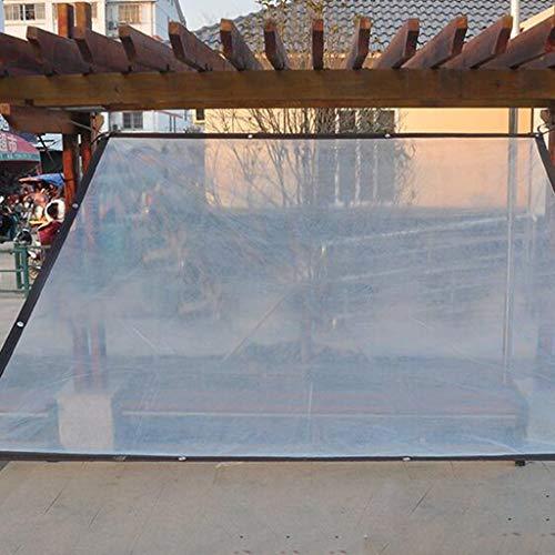 WUHX Película de plástico Transparente Gruesa Ribete a Prueba de Lluvia Aislamiento a Prueba de Viento Toldo para jardín Flores Plantas Porche Pérgola y Barbacoa