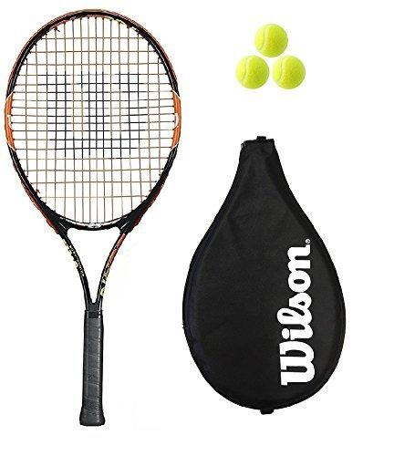 Wilson Burn 25 Junior Tennisschläger + 3 Tennisbälle UVP £ 60
