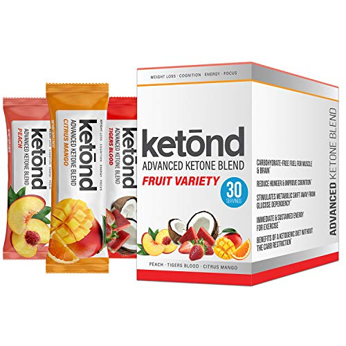 Ketond Advanced Ketone Blend — High-Performance Weight Loss Supplement — Citrus Mango, Tigers Blood, Peach (30 Servings)