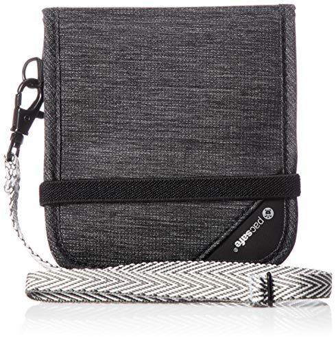 Pacsafe RFIDsafe V100 Bifold Wallet - Anti-Diebstahl-Geldbörse, Farbe:Granite Melange