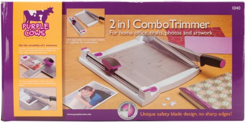Purple Cows 12-Inch Two-in-One Scrapbook Combo Trimmer