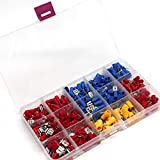 Terminals|280PCS Red Blue Yellow Assorted Insulated Spade Crimp Terminal Electrical Wire Connector Set Cable Crimp Terminals Connectors, Heat Shrink Terminals, Electrical Connectors Ring| by BLUMECA