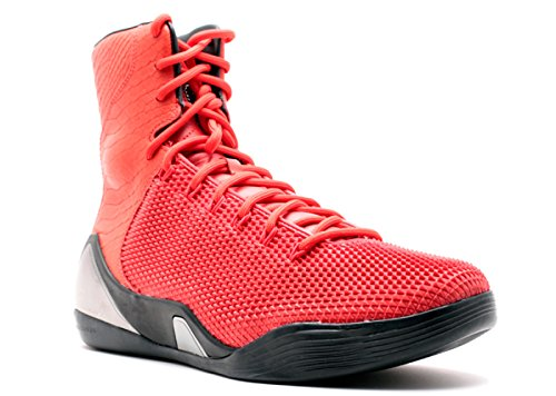 Nike Kobe IX HIGH KRM EXT QS Mens hi top Trainers 716693 Sneakers Shoes (UK 8.5 US 9.5 EU 43, Challenge red Challenge red 600)