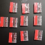 10x Acrylic Hinges. No glue required, Self Adhesive. Transparent Clear Plastic Acrylic 25mm -10 Pack- 63/64