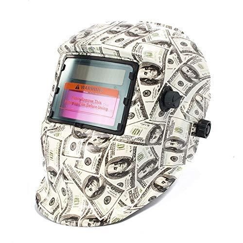 Solar Powered Welding Helmet Auto Darkening Hood with Adjustable Shade Range 4/9-13 for Mig Tig Arc Welder Mask (Dollar)