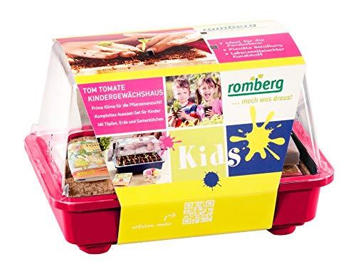 Romberg 14094205 Kinder-Gewächshaus Tom Tomate (Zimmergewächshaus), Farbe:Berry