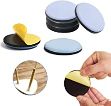 Pack van 16 Teflon meubelglijders, ronde zelfklevende stoel been PTFE schuifregelaars, vloerbeschermers voor meubels gemak...