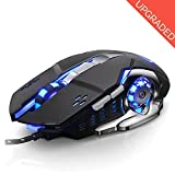 Gaming Maus Professional für Pro Gamer USB Wired 2400 dpi 6 programmierbaren Tasten mit 4 einstellbare DPI Gaming Maus für Pro Spiel Notebook PC Laptop Computer