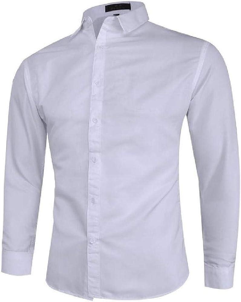 U/A - Blusa de vestir para hombre, manga larga, color sólido ...
