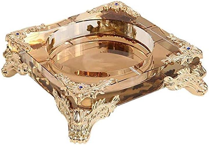 Posacenere in cristallo per sigari lussuoso chouchou B07Z488SD1