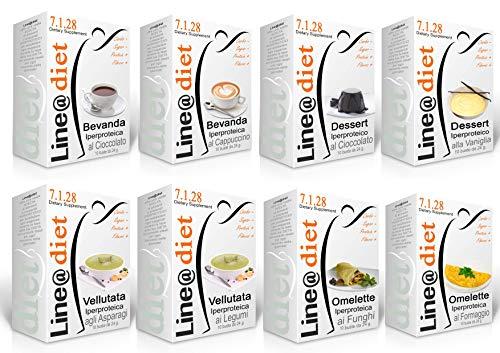 """Dieta Proteica Line@Diet! MaxiBAG 80 BUSTE: Opzione: DOLCE E SALATO = 80 preparati / (buste proteiche) senza Carboidrati e senza Zuccheri, una dieta per """"PERDERE PESO"""" in pochi giorni, senza sentire la FAME! Bruciagrassi facendo colazioni, spuntini, pranzi e cene a tutto GUSTO*** ... brucia grassi e TORNI SUBITO in FORMA!"""