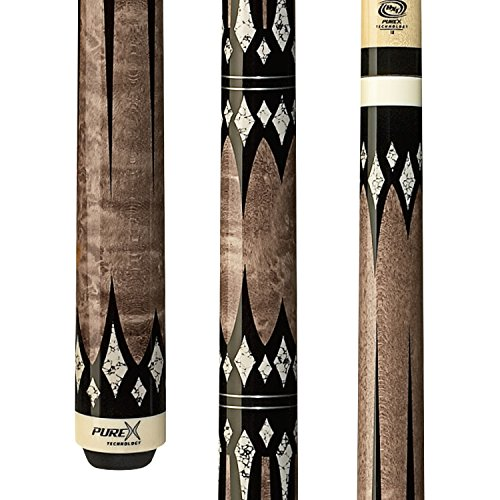 Purex HXT-65 Antique Birds-Eye Maple with Black and White Daggers and Diamonds Technology Pool Cue, 20.5-Ounce
