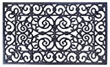 Heavy Duty Wrought Effect Rect. Rubber Front/Back Door mat 45 X 75 cm - Large