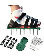 ValueHall Gazon Beluchter Sandalen 4 Verstelbare Riemen lange Beluchting Schoenen Tuin Nagel Schoenen voor Gazon Tuin Bodem Gras Beluchting V7056