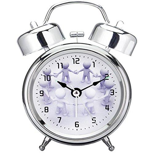 XXW Despertador Sala de Estar Alarma de luz Nocturna Alarma de Campana...