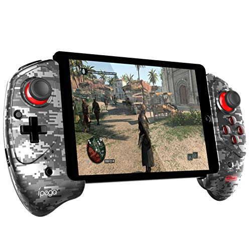 ipega-PG-9083B Wireless 5.0 Smart PUBG Mobile Game Controller Retractable Game Gamepad for iOS(iOS 11-13.3)/Android Mobile Smartphone Tablet