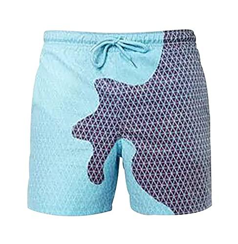 Pantalon Sexy Shorts Hombre Pantalones Cortos Ajustados Hombre Hombre Suelto Corto Hombre Casual Corto Pantalones Slim Fit Mallas Pantalon Corto Pantalon Talla Grande Cortos Disco Azul Violeta L
