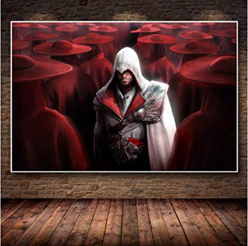 JYSHC Cuadro En Lienzo Juego Imagen Assassin'S Creed Poster Decoración De La Pared del Hogar Ks81Yz 40X60Cm Sin Marco