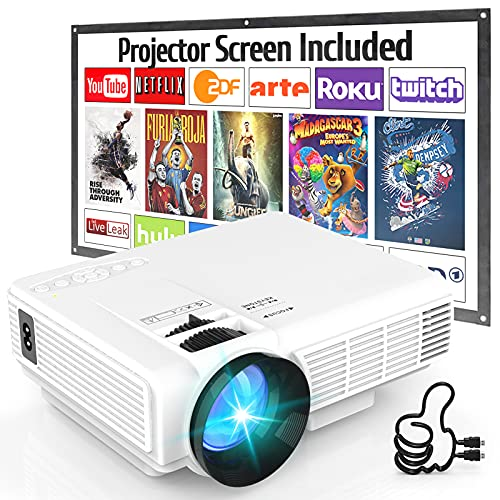 Projector Screen 150 inch 16:9 HD Foldable Anti-Crease Portable Projection...