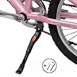 JINTN - Cavalletto regolabile per bicicletta, resistente, in lega di alluminio, supporto laterale per bicicletta pieghevole, Nero