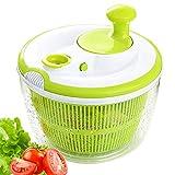 JmeGe Salad Spinner Dryer Quick Design BPA Free Dry Off & Drain Lettuce and Vegetable-4.5 Quart Large Capacity & Dishwasher Safe