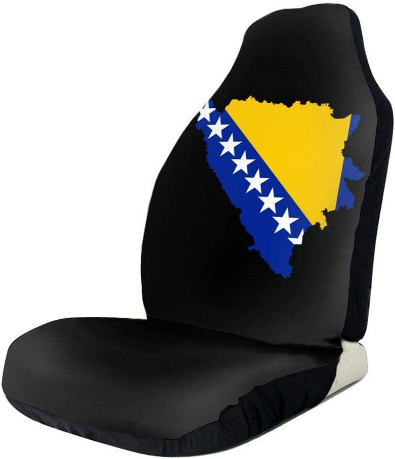 WUZZZZ Bosnian Map Gifts Flag Limited time cheap sale Car Seat Covers Protectors Universal