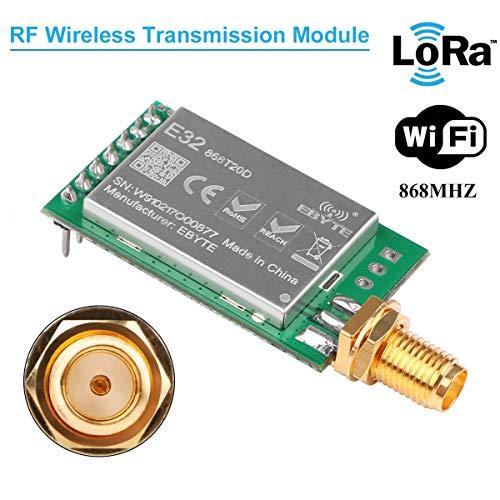 MakerHawk RF Wireless Übertragungsmodul 868 MHz LoRa Spread-Spektrum-Kommunikation, 20dBm 100mW Gemessener Abstand 3000M UART SX1278 / SX1276 RF Empfänger Sender, Super Anti-Interferenz-Leistung