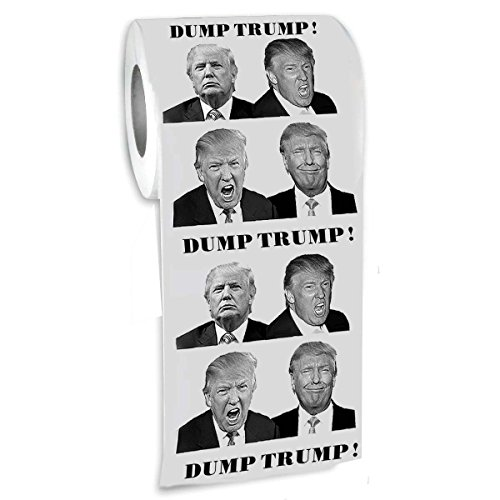 Donald Trump Toilet Paper-Funny Novelty President Toilet Paper- Gag Gift -Funniest Political Gift-Dump Trump