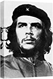 wall26 - Canvas Prints Wall Art - Photo of Che Guevara in Black and White | Modern Wall Decor/Home Decoration Stretched Gallery Canvas Wrap Giclee Print & Ready to Hang - 16' x 12'