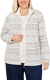 Karen Scott Plus Size Printed Zip-Up Jacket