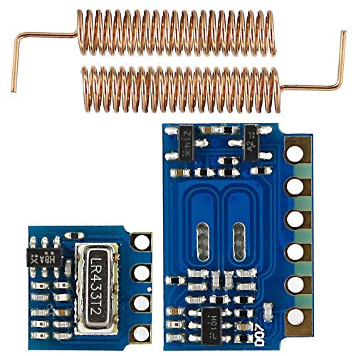 RF 433MHz for Transmitter Receiver Module RF Wireless Link Kit +10PCS Spring Antennas OPEN-SMART for Arduino - products that work with official for Arduino boards 5pcs