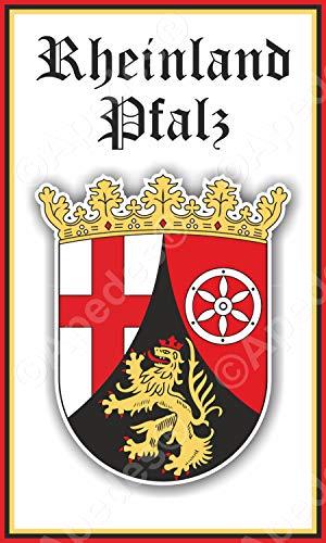 apedes Rheinland Pfalz Deutschland Wappen Computer Tablet Aufkleber Aufkleber 7,6x 12,7cm