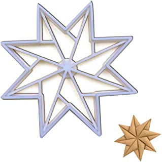 Origami Star (8-sided, Style 3) cookie cutter, 1 piece - Bakerlogy