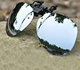 yuekuantai- 1pair Day Vision Unisex Sunglasses Clip On Flip Up for Driving Golf Glasses UV400 Protective