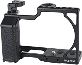 NICEYRIG Cage Kit for Sigma FP, Camera Cage with Black Leather Handle Grip (Right Side)