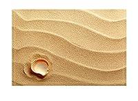 lovedomi イエロービーチホワイトシェルサマービーチテーマシリーズパターンバスルームバスタブカーペット滑り止めドアマットフロア屋内屋外フロントドアマット子供用バスルームマット15.7X23.6