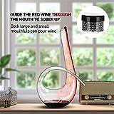 WYK Rotweindekanter + Reinigungs-Perlen, 1240 ml, 6 Stück Rotwein-Schneller Dekanter, mundgeblasen, italienischer Stil, bleifrei, hochwertiges Kristallklarglas für Hochzeit, Jahrestag, Weihnachten - 6