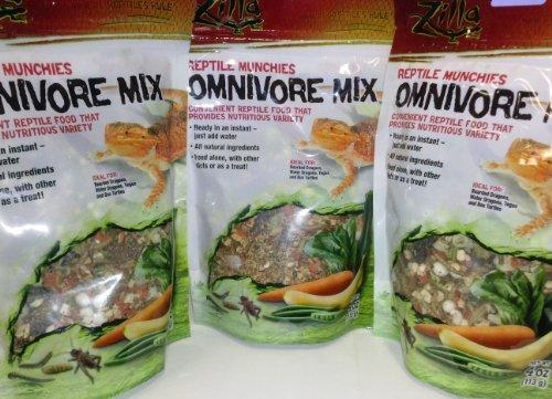 Pack de 3 bolsas de comida liofilizada para tortugas de Zilla