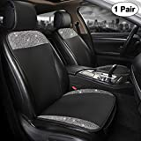 Best Car Seat Covers - Black Panther Luxury PU Leather Front Pair Car Review