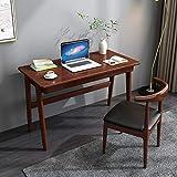 XM&LZ Madera Maciza Mesa De Ordenador con 2 Cajones,Simple Elegante Escritorio Tabla De Pc Portátil,Muebles De Mesa Estación para El Hogar Oficina-B 80x60x75cm