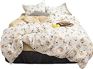 ?Latest Arrival?Duvet Cover Cat Kids Duvet Cover Twin Cotton Yellow Meow Animals Duvet Cover Cartoon Comforter Cover Sets Cute Lightweight Kids Bedding Gifts with Zip Ties,NO Comforter NO Sheet