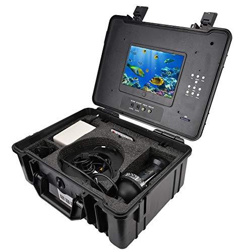 Tosuny Drone subacuático, Pantalla en Color de 7 Pulgadas Buscador de Peces Cámara de Pesca submarina con cámara de Alta definición de 200 mm x 90 mm, Cámara de Pesca HD CCD 1000TVL Lines(EU)