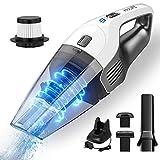 Holife Aspiradora de Mano, aspiradora de 7 Kpa Aspiradora de aspiradora para automóvil Mesa Fuerte Recargable con 2 filtros para el hogar, automóvil, líquido y seco