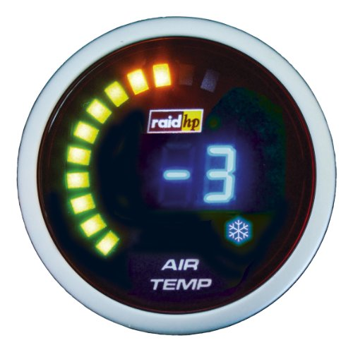 Raid HP 660511 Zusatzinstrument Aussenthermometer Serie Night Flight Digital Blue